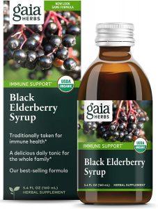 Gaia Herbs Black Organic Elderberry Syrup