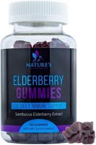 Nature's Nutrition Elderberry Gummies for Immune Support