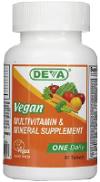 Deva Vegan Vitamins Daily Multivitamin & Mineral Supplement