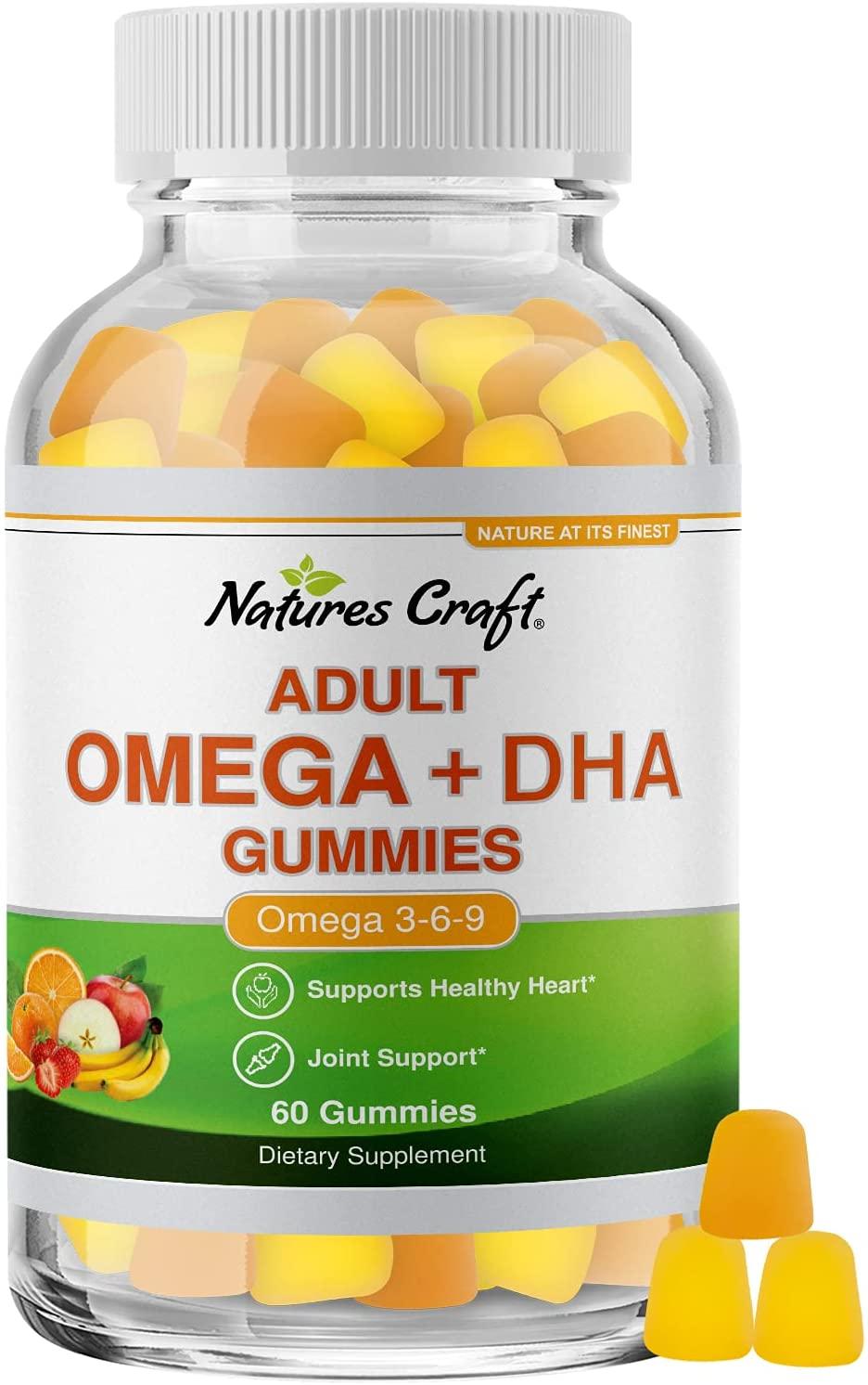 Natures Craft Adult Omega + DHA Gummies