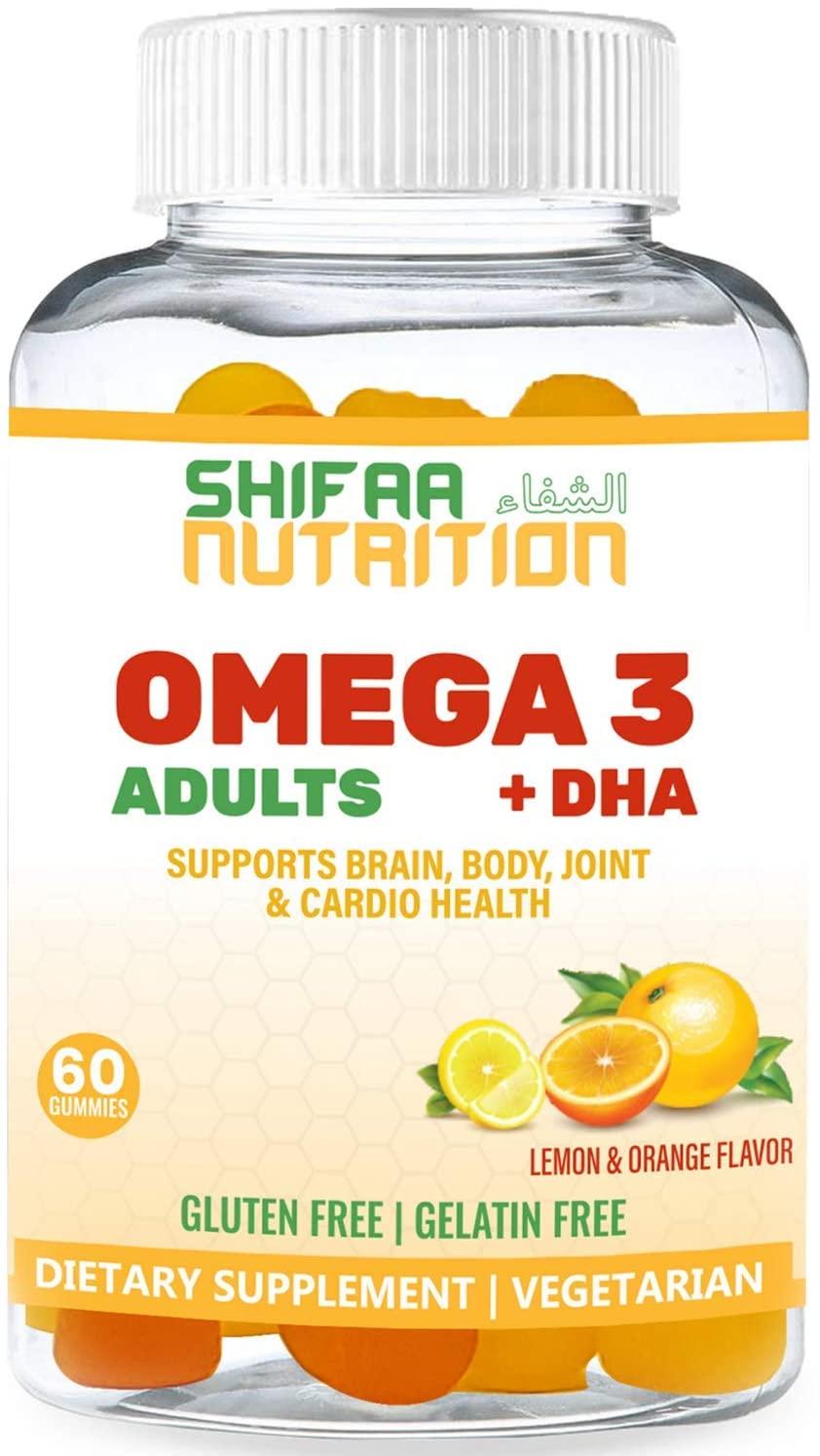 Shifaa Nutrition Omega 3 + DHA Vegan Gummies